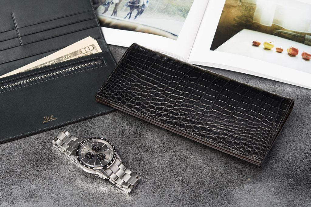 SEIJO TOKYO マットクロコダイル長財布 (小銭入れ有り)