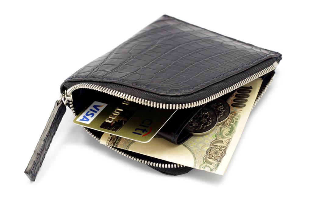 クロコダイルマットL字ラウンドミニ財布