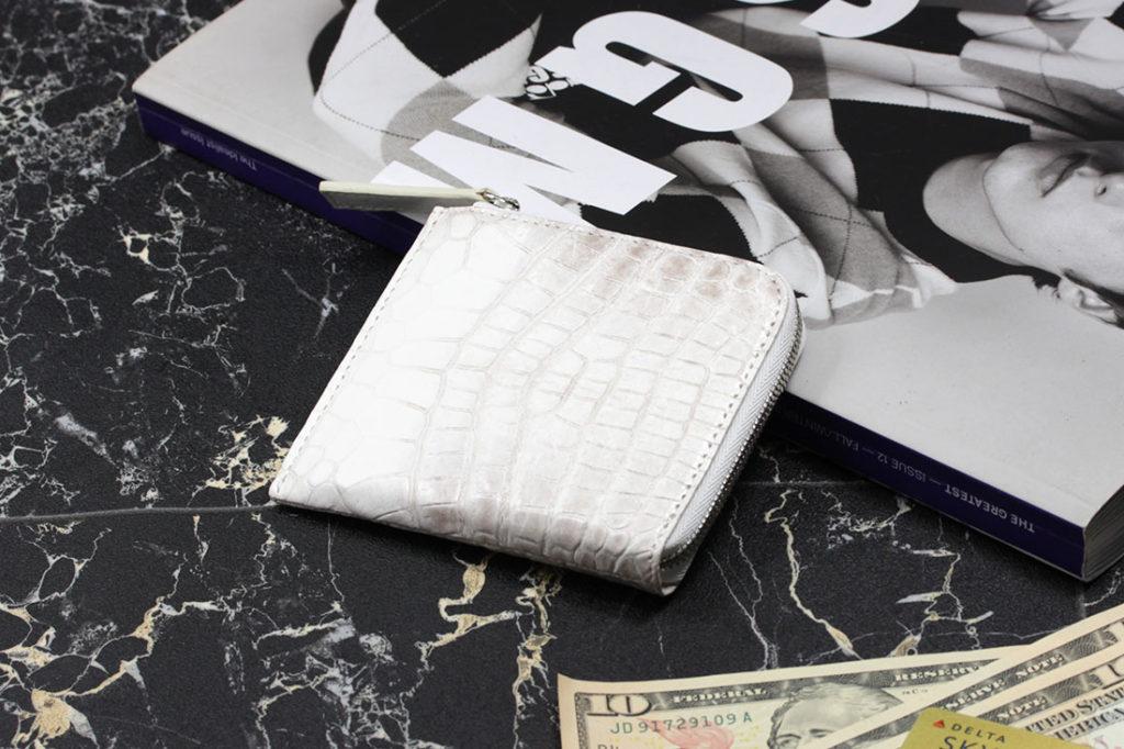 ヒマラヤクロコダイルL字ファスナーミニ財布