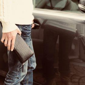 メンズクロコダイル財布